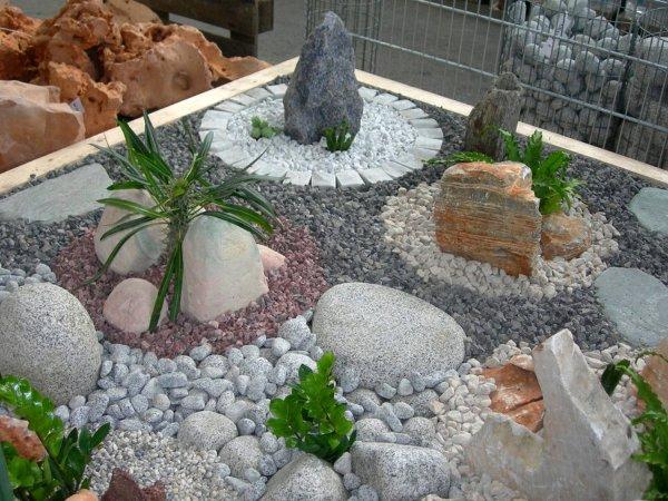 Использование камней в ландшафтном дизайне.